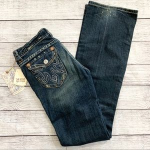 MEK Distressed Durham Bootcut Jeans New With Tags